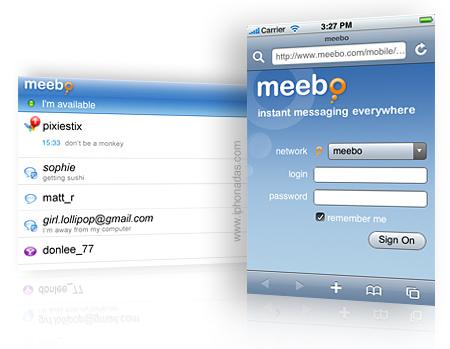 Lanza Meebo su app para iphone en itunes store.